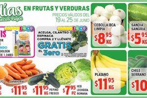 HEB: folleto de frutas y verduras del 19 al 25 de junio 2018