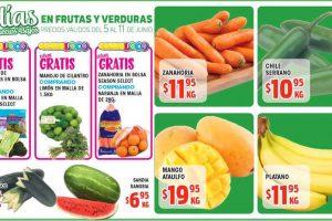 HEB: folleto de frutas y verduras del 5 al 11 de junio 2018