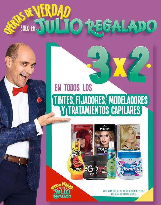 Julio Regalado 2018: 3×2 en Tintes, Fijadores, Modeladores y Tratamientos Capilares