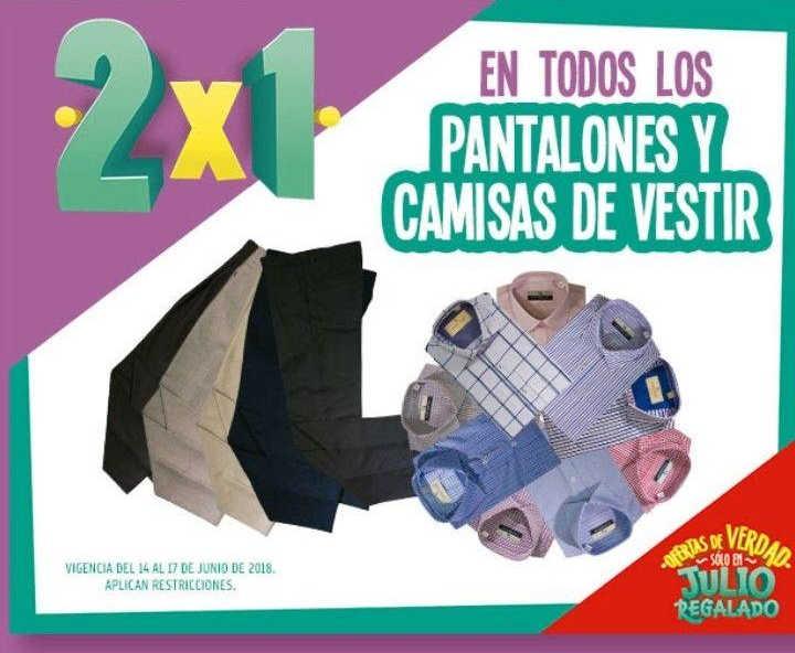 Julio Regalado 2018 en Soriana: 2×1 en pantalones y camisas de vestir