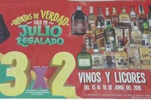 Julio Regalado 2018 Soriana: 3x2 en Vinos y Licores