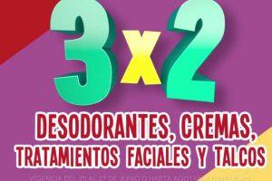 Julio Regalado 2018: 3x2 en desodorantes, cremas y tratamientos faciales