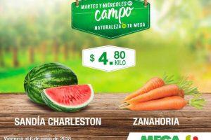 Mega Soriana: Frutas y Verduras del Campo 5 y 6 de junio 2018