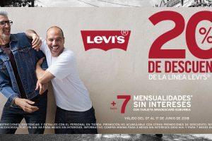 Suburbia: 20% de descuento en ropa Levi's Men del 7 al 17 de junio 2018