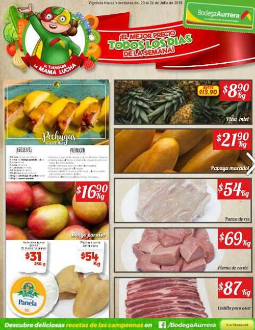 Bodega Aurrera: frutas y verduras tianguis de mamá lucha al 26 de julio 2018
