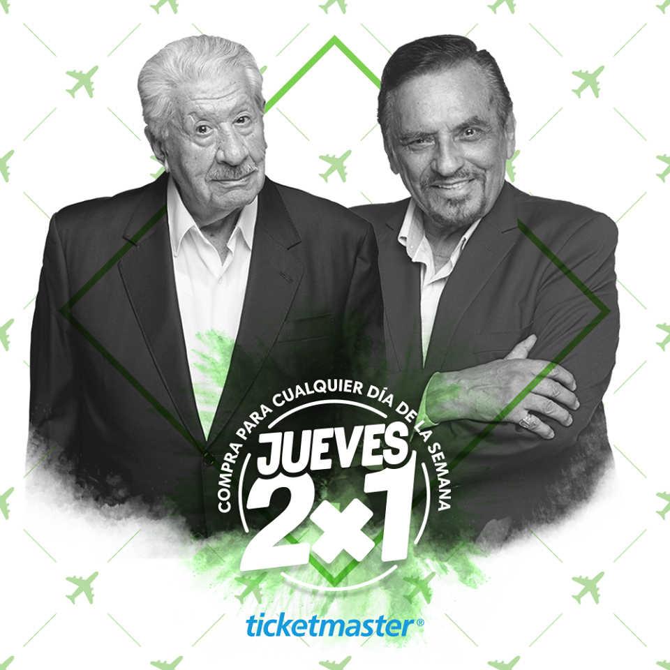 Jueves de 2×1 en Ticketmaster 19 de julio de 2018