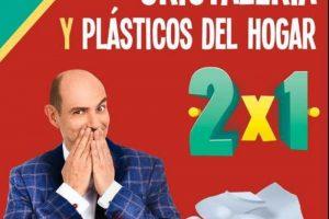 Julio Regalado 2×1 en cristalería y plásticos de hogar del 11 al 17 de julio 2018