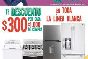 Julio Regalado 2018: $300 de descuento por cada $1000 en línea blanca
