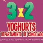 Julio Regalado 2018: 3×2 en yoghurts y departamento de congelados