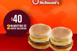 Martes de McDonald's Cupon 2 McMuffins de Huevo con Salchicha por $40