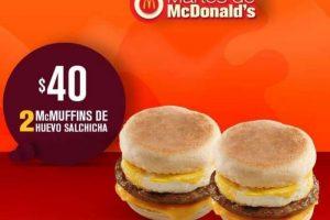 Martes de McDonalds cupón de 2 Mc Muffins a solo $40 al 3 de julio
