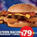 Carl's Jr Promoción Western Bacon Cheeseburger con papas a solo $79