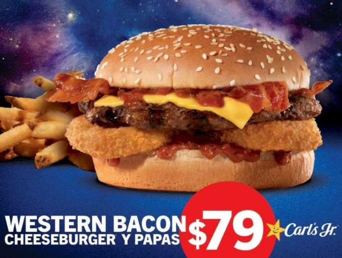 Carl's Jr: Promoción Western Bacon Cheeseburger con papas a solo $79