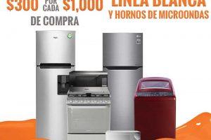 Temporada Naranja La Comer: $300 de descuento por cada $1000 en línea blanca