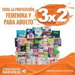 Temporada Naranja 2018: 3×2 en protección femenina y para adultos