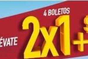 Verano Cinemex 2018 4 boletos al 2x1 + 4 combos de $123 al 13 de noviembre