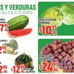 Frutas y Verduras HEB del 21 al 27 de agosto 2018