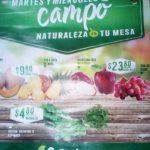 Frutas y Verduras Soriana 28 y 29 de agosto 2018