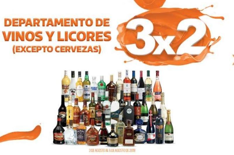 La Comer Temporada Naranja: 3×2 en vinos y licores del 3 al 6 de agosto 2018