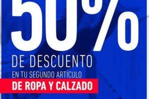 Martí: Ropa y calzado 50% de descuento en tu segunda compra