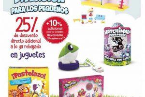 Sanborns: 25% de descuento adicional a lo ya rebajado en juguetes