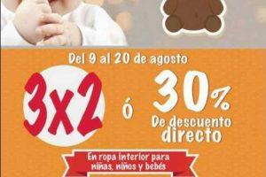 Sears 3x2 o 30% de descuento en ropa para niñas, niños y bebes al 20 de agosto