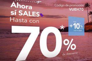 Volaris: hasta 70% de descuento + 10% adicional en vuelos con V.Club