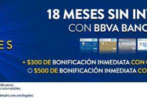 Walmart: Días imperdibles Bancomer 18 MSI + $500 o $300 bonificación