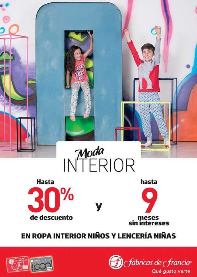 Fábricas de Francia: Hasta 30% de descuento y 9 MSI en ropa interior para niños y niñas