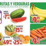 Frutas y Verduras HEB del 18 al 24 de septiembre 2018