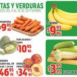 Frutas y Verduras HEB del 4 al 10 de septiembre 2018