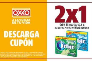 Oxxo: Cupón de 2x1 en Chicles Orbits Slimpacks