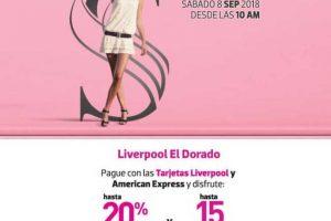 Promociones Liverpool Sábado Rosa 8 de septiembre de 2018