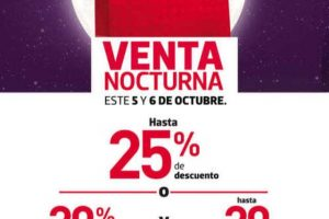 Venta Nocturna Fábricas de Francia 5 y 6 de Octubre de 2018