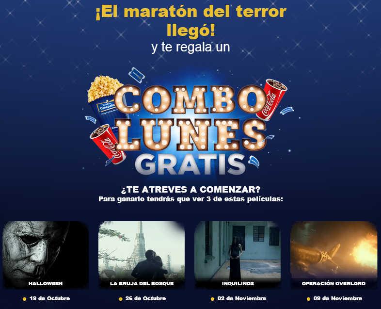 Cinepolis Combo Lunes Gratis Viendo 3 Peliculas De Maraton Del