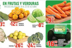 Frutas y Verduras HEB del 16 al 22 de octubre 2018