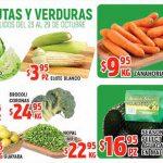 Frutas y Verduras HEB del 23 al 29 de octubre 2018
