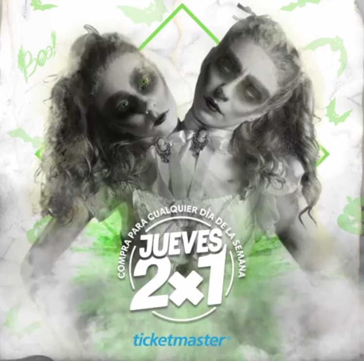 Jueves 2×1 en Ticketmaster 25 de Octubre de 2018