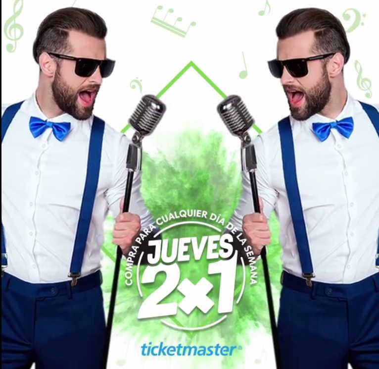 Jueves de 2×1 en Ticketmaster 18 de octubre de 2018