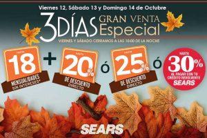 Venta Nocturna Sears del 12 al 14 de Octubre 2018