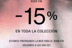 El Buen Fin 2018 Zara: 15% de descuento en toda la colección
