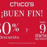 Ofertas Chico's El Buen Fin 2018: 30% de descuento y 9 MSI