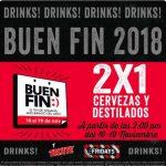 Promociones TGI Fridays El Buen Fin 2018 2x1 en cervezas