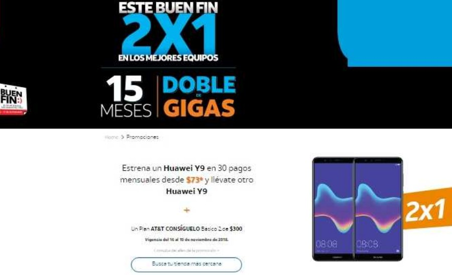 bd7c75921 Ofertas AT&T El Buen Fin 2018: 2X1 en equipos seleccionados
