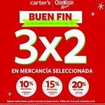 Carter's ofertas El Buen Fin 2018 3X2 en mercancía seleccionada