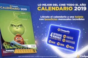 Promociones Calendario Cinépolis 2019: Entradas al 2×1