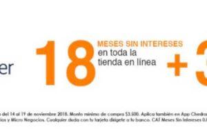 El Buen Fin 2018 Chedraui Online: 18 MSI y 3 de bonificación Bancomer