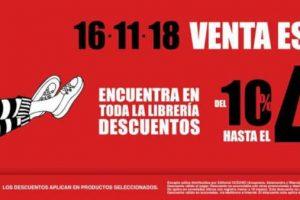 El Buen Fin 2018 Librerías el Sótano: Hasta 40% de descuento + 6 MSI