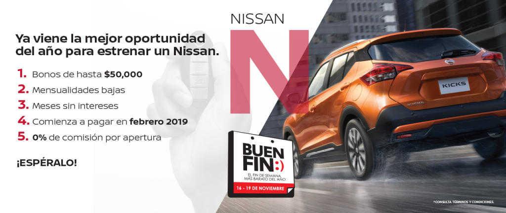 El Buen fin 2018 Nissan: Bonos de hasta $50,000 y 0% de comisión
