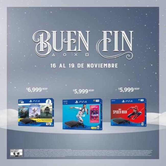 El Buen Fin 2018 Playstation: Ofertas en consolas y bundles